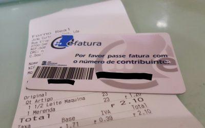 Pedir fatura com NIF – Os meus números