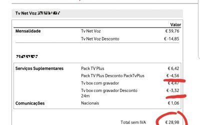 Atenção à sua fatura de TV+NET+VOZ