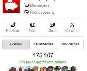 175 mil no Facebook (Obrigado) e onde posso procurar ajuda para poupar