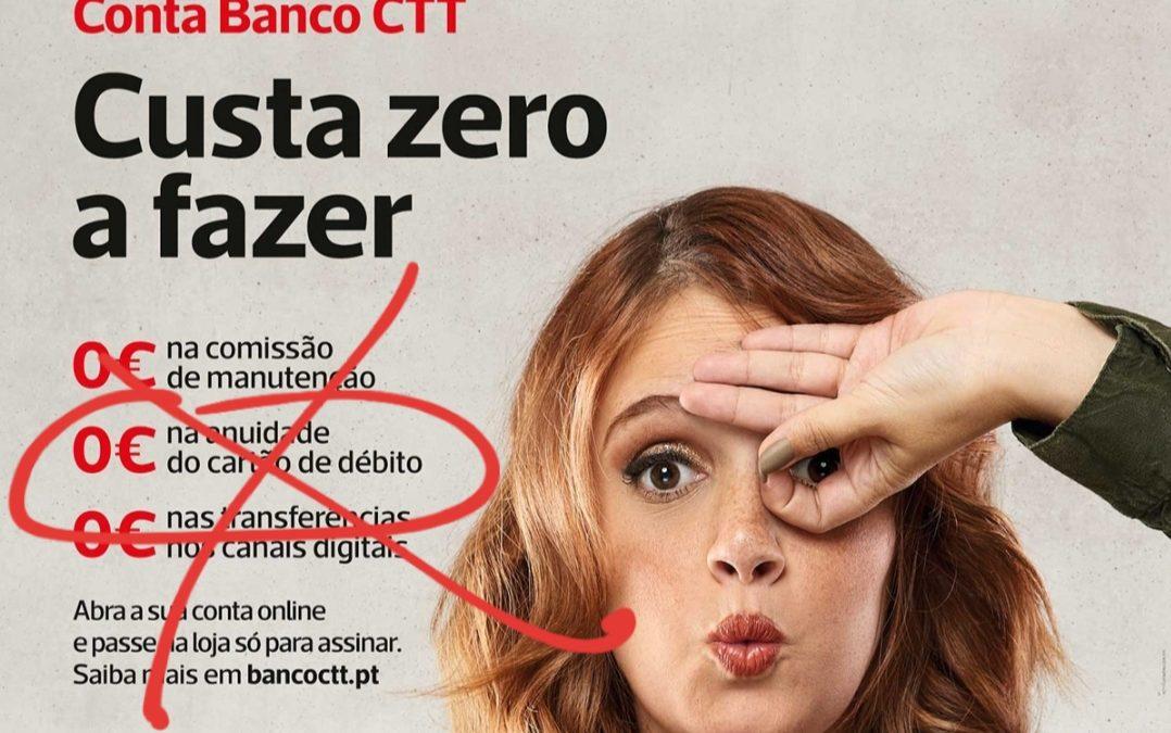 O Banco CTT já não é um banco ZERO