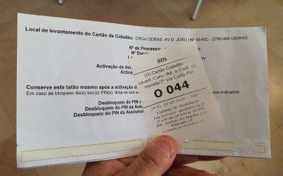 Passo 3: A entrega do Cartão de Cidadão que renovei online em 10 minutos (e mais barato)