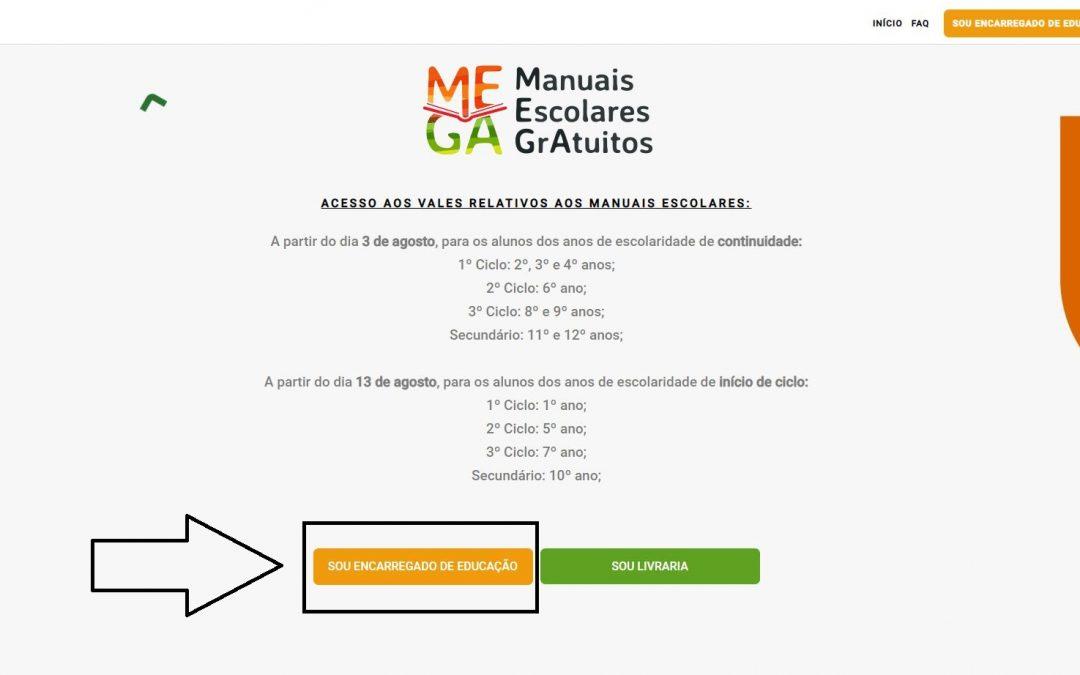 MANUAIS ESCOLARES | Já se pode inscrever no portal MEGA para receber os livros grátis