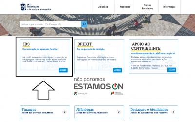 Já pode atualizar o seu agregado familiar no Portal das Finanças