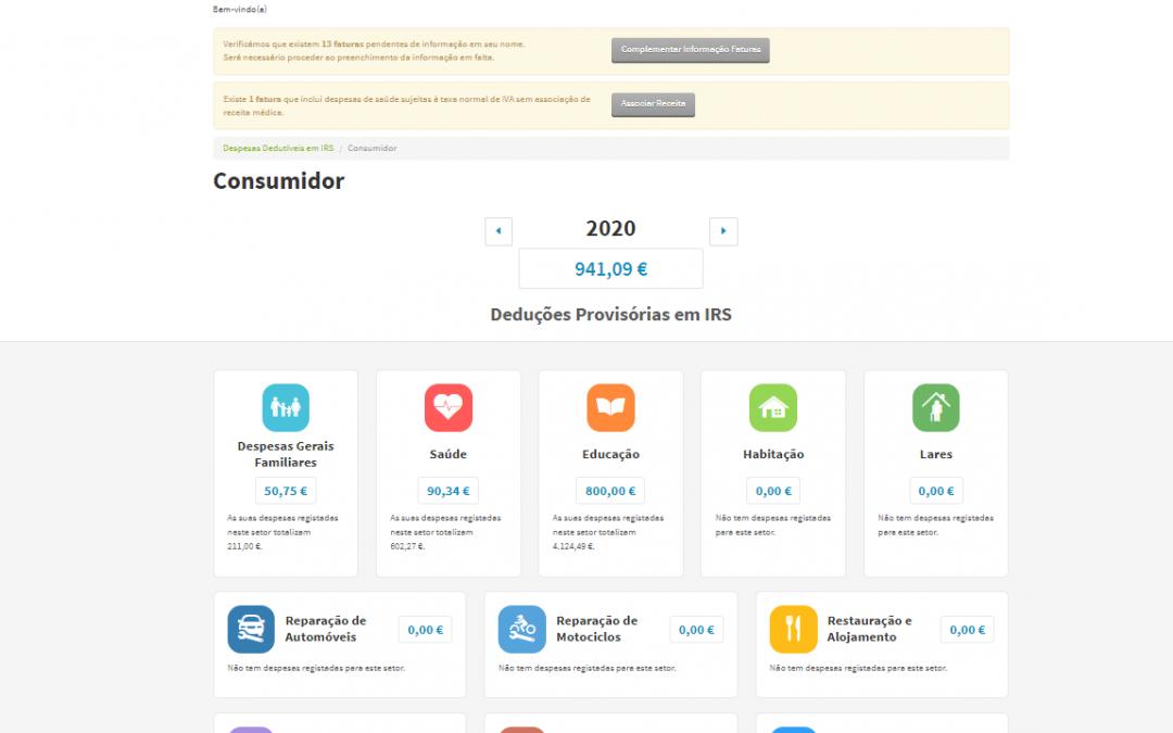 Contribuintes têm até hoje para validar faturas no Portal das Finanças