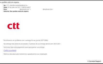 BURLA | Cuidado com e-mails falsos dos CTT para desalfandegar encomendas